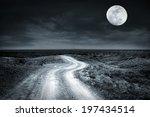 Empty Rural Road Going Through...