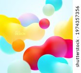 multicolored background with... | Shutterstock .eps vector #1974357356