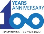 100 years anniversary. one...   Shutterstock .eps vector #1974361520