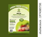grocery flyer. farm fresh store ...   Shutterstock .eps vector #1974385730