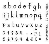 handwriting english font text... | Shutterstock .eps vector #1974387086