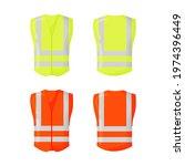 orange reflective safety vest...   Shutterstock .eps vector #1974396449