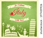 Italy Retro Poster With...
