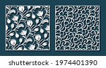 flower tulip and curl patterns...   Shutterstock .eps vector #1974401390