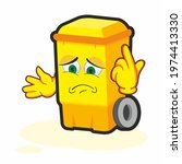 trash can cartoon character.... | Shutterstock . vector #1974413330