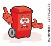 trash can cartoon character.... | Shutterstock . vector #1974413336
