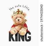 cute little king slogan with...   Shutterstock .eps vector #1974433040