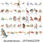 set of 50 dinosaur with names | Shutterstock .eps vector #1974442259