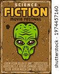 alien green head vector poster...   Shutterstock .eps vector #1974457160