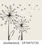 Abstract Fluffy  Flowers With...