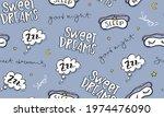 sweet dreams hand lettering...   Shutterstock .eps vector #1974476090