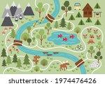 camping map. summer camp... | Shutterstock .eps vector #1974476426