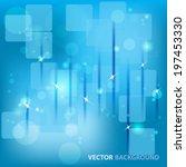 blue circular bokeh background | Shutterstock .eps vector #197453330