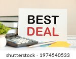 White Card With Text Best Deal...