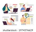 people office workers... | Shutterstock .eps vector #1974576629