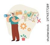 business man office worker... | Shutterstock .eps vector #1974577289