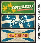 ontario  quebec and new... | Shutterstock .eps vector #1974586589