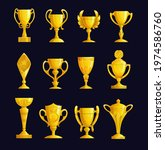 champion cup cartoon vector... | Shutterstock .eps vector #1974586760