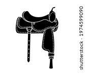 vector flat black cowboy...   Shutterstock .eps vector #1974599090