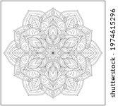 mandala circle pattern....   Shutterstock .eps vector #1974615296
