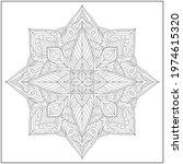 mandala circle pattern....   Shutterstock .eps vector #1974615320