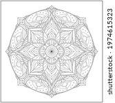 mandala circle pattern....   Shutterstock .eps vector #1974615323
