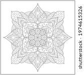 mandala circle pattern....   Shutterstock .eps vector #1974615326