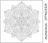 mandala circle pattern....   Shutterstock .eps vector #1974615329