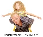 portrait of loving father... | Shutterstock . vector #197461574