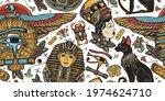 ancient egypt seamless pattern. ... | Shutterstock .eps vector #1974624710