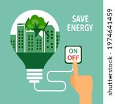 save energy concept vector... | Shutterstock .eps vector #1974641459