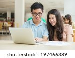 asian students working in the... | Shutterstock . vector #197466389