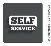 self service sign icon....