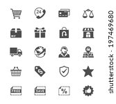 e commerce flat icons | Shutterstock .eps vector #197469680
