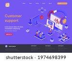 customer support isometric...