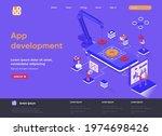 app development isometric...