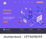 startup project isometric...
