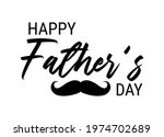 happy fathers day black... | Shutterstock .eps vector #1974702689