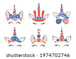 4th of july holiday design with ... | Shutterstock .eps vector #1974702746