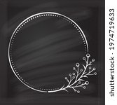 floral decoratare frame on a...   Shutterstock .eps vector #1974719633