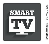 widescreen smart tv sign icon....