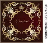 elegant background with lace... | Shutterstock .eps vector #197475218