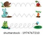 handwriting practice sheet with ... | Shutterstock .eps vector #1974767210