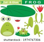 funny frog sitting on lotus... | Shutterstock .eps vector #1974767306