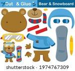 cute bear wearing warm clothes... | Shutterstock .eps vector #1974767309