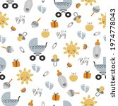 bright boy pattern with cute...   Shutterstock .eps vector #1974778043
