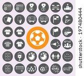 soccer icons set | Shutterstock .eps vector #197480444