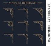 vintage golden corners with...   Shutterstock .eps vector #1974807839