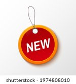 new tag isolated on white....   Shutterstock .eps vector #1974808010