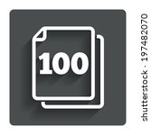 in pack 100 sheets sign icon....